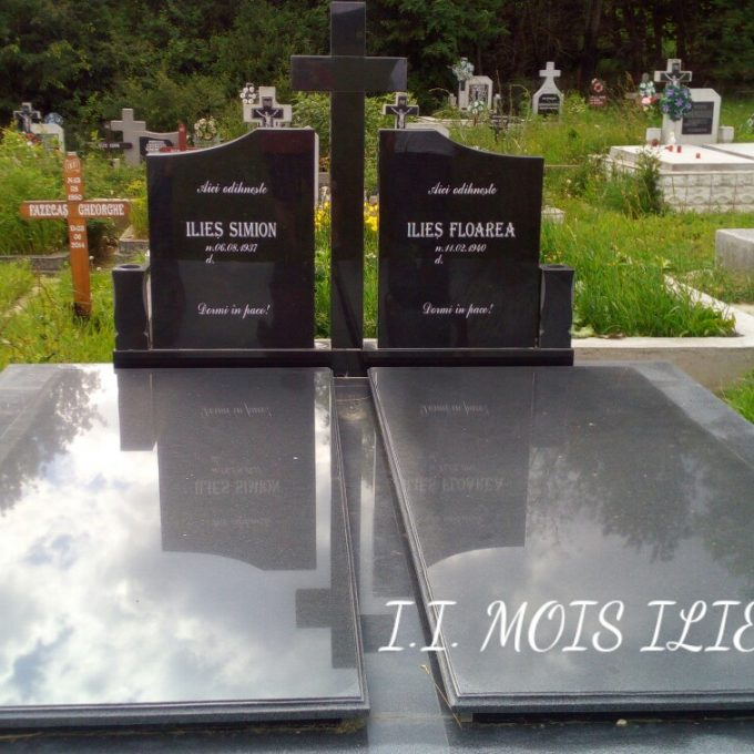 Monument Funerar Cadru din Granit Negru 1