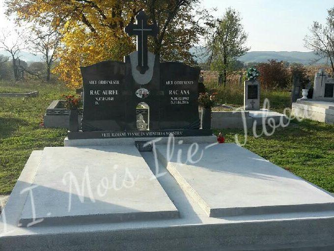 Monument dublu granit gri inchis G2