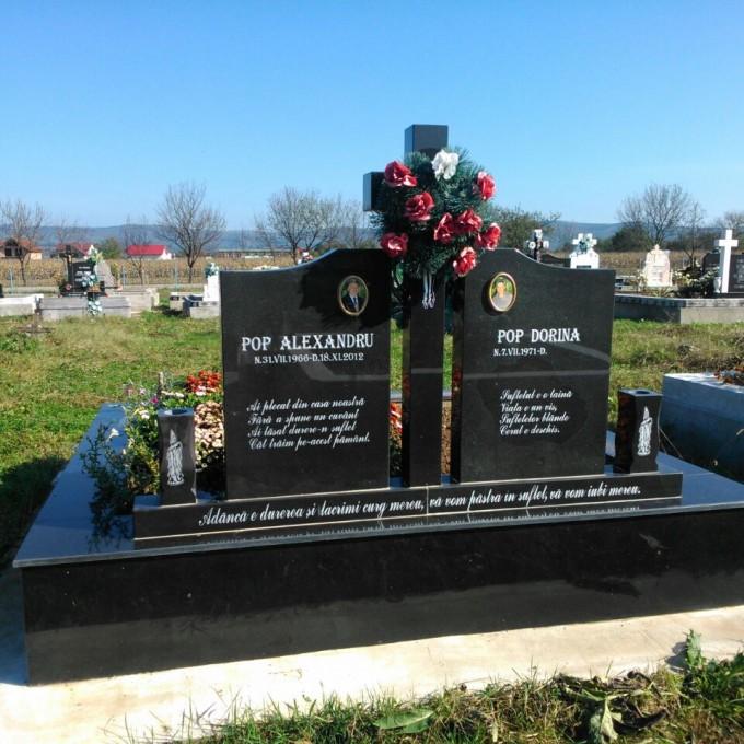 Placare Monument Granit Negru Model 3