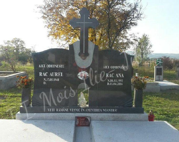 Monument dublu granit gri inchis G2 (fata)