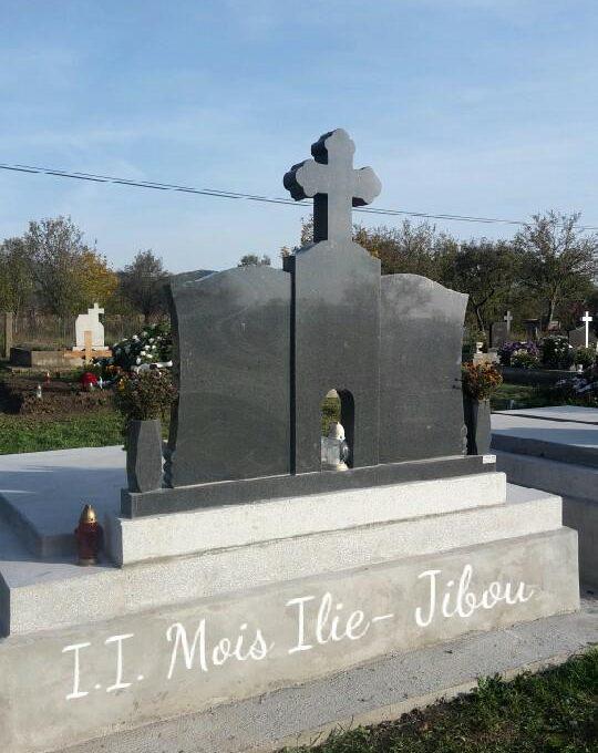 Monument dublu granit gri inchis G2 (spate)