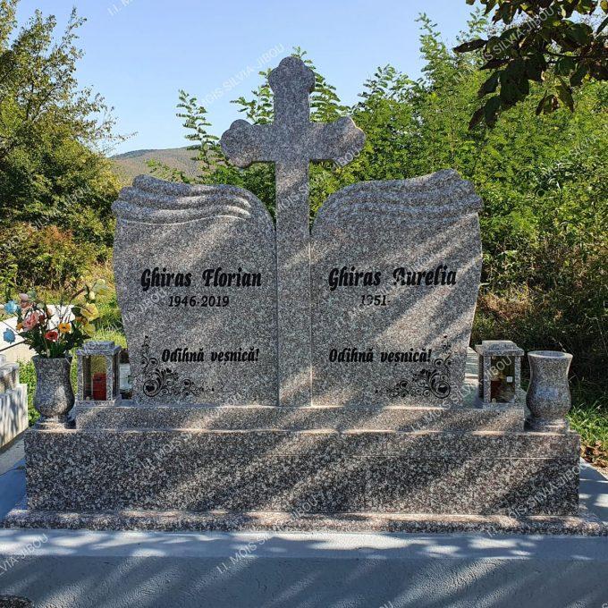 Cruce dubla din granit cu cadru dublu granit model 24